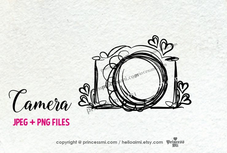 camera clipart - with little hearts example image 1