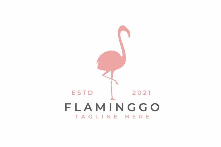 Flamingo Silhouette Logo Design Vector Illustration example image 1