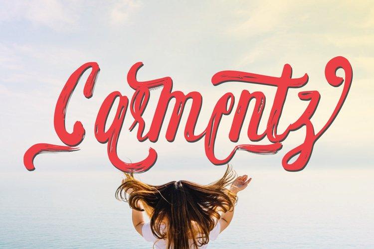 Carmentz Brush Script example image 1