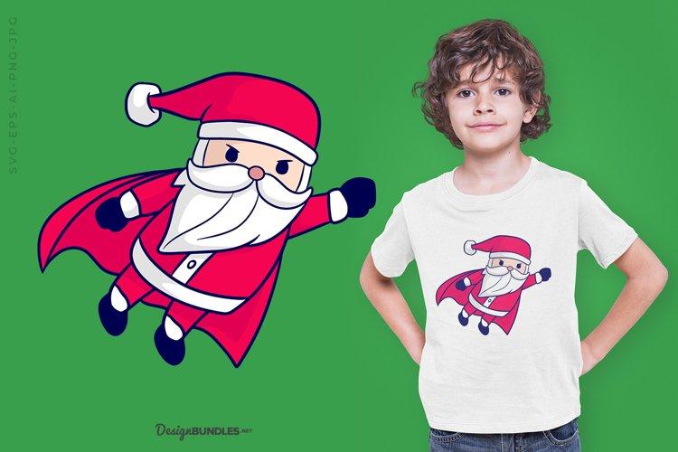 Super Santa Claus illustration