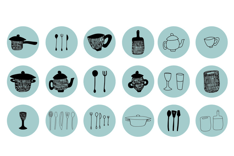 INSTAGRAM KITCHENWARE HIGHLIGHTS ICONS example 1