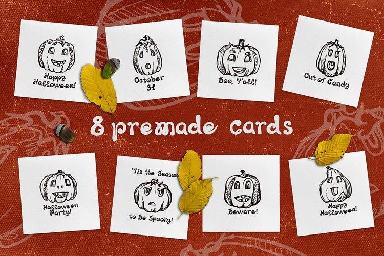 8 cards with jack-o-lanterns| SVG EPS AI JPEG PNG PSD example image 1