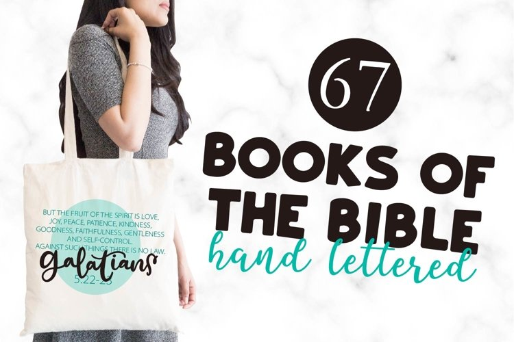 67 Books of the Bible SVG Bundle - Hand Lettered Cut Files