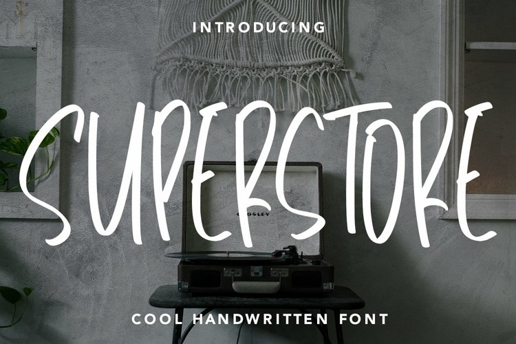 Web Font Superstore - Cool Handwritten Font example image 1