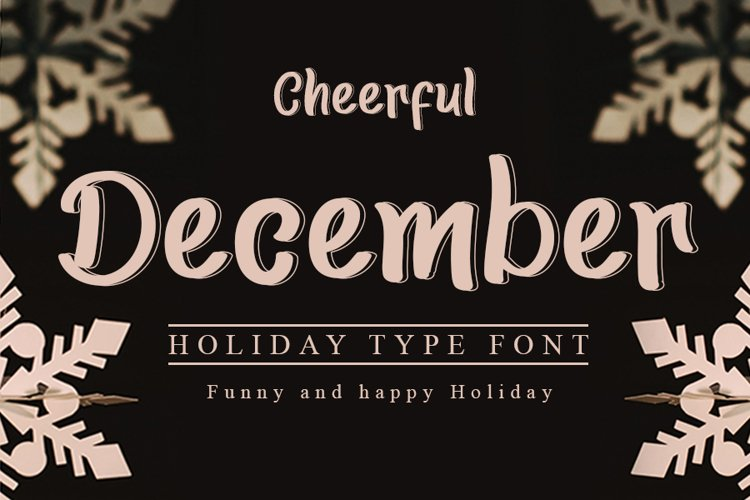 Cheerful December example image 1