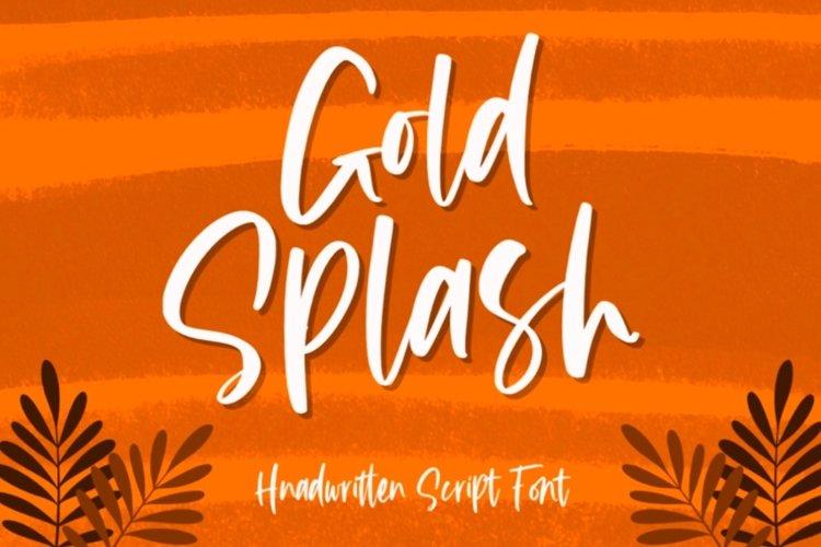 Gold Splash - Handwritten Script example image 1