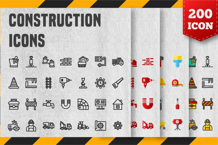 200 Construction Icon Pack