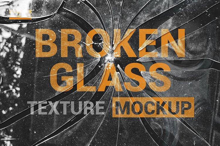Broken Glass Texture Mockup example image 1