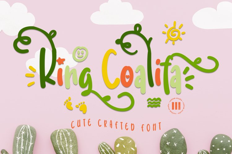 King Coalifa - A Cute Crafted Font