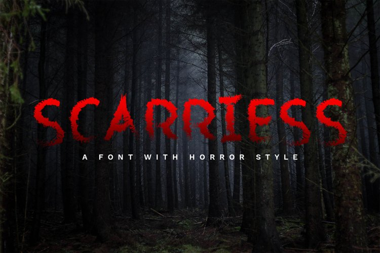 Scarriess - A Font With Horror Style example image 1