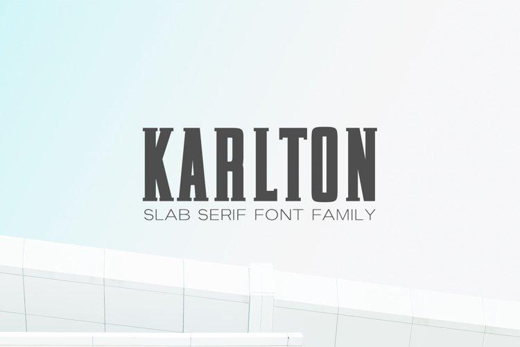 Karlton Slab Serif Font Family example image 1