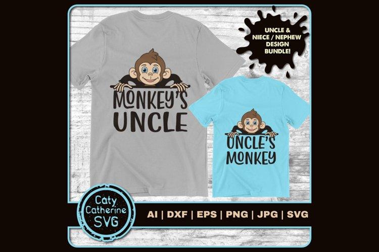 Monkey's Uncle & Uncle's Monkey SVG Cut Files example image 1