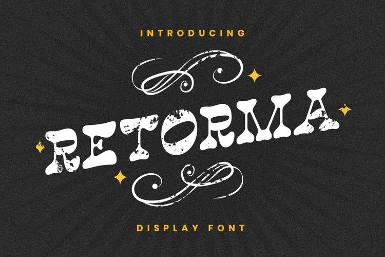 Retorma Font example image 1