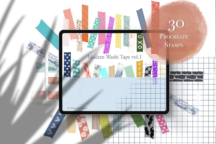NEW! 30 Modern Washi Tape Vol1 example image 1