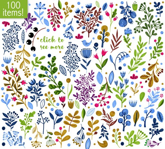 Floral Illustrations example 1