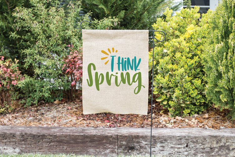 Think Spring SVG Cut File - Spring SVG DXF EPS PNG JPG AI example 1