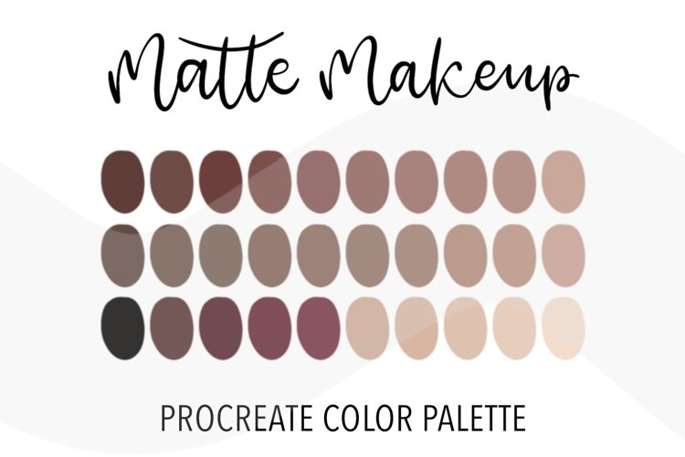 Matte makeup color palette for Procreate. 30 Swatches example image 1