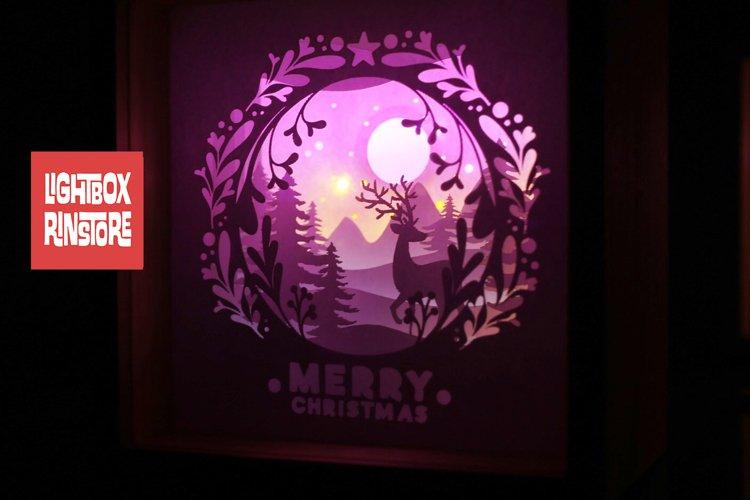 #2 Deer Christmas svg, 3D Shadow box Template SVG example image 1