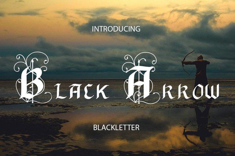 Black Arrow blackletter font