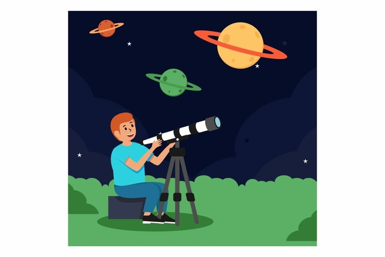 Telescope for astronomical concept example image 1