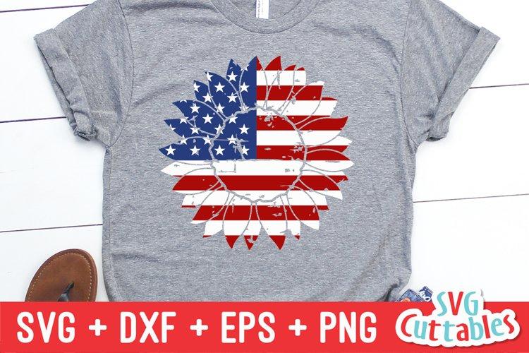 Fourth of July SVG | Flag Sunflower | Shirt Design