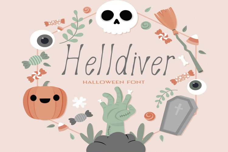 Helldiver Halloween Font example image 1