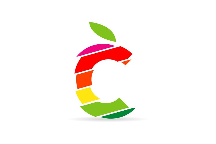 fruit logo in the style of letter C example image 1