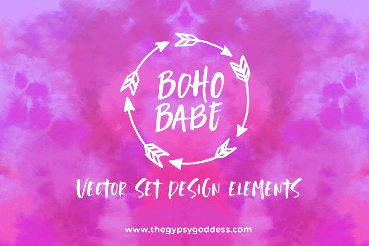 Boho Babe Vector Set example image 1