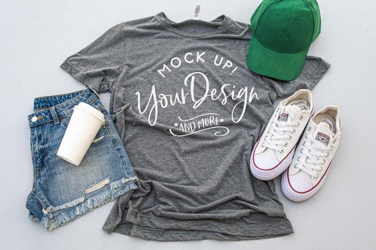 Shirt Mockup - Bella Canvas 3413 Grey Triblend