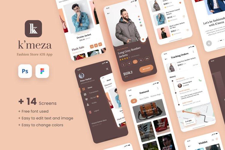 Kmeza - Fashion Store iOS App Design UI Template example image 1