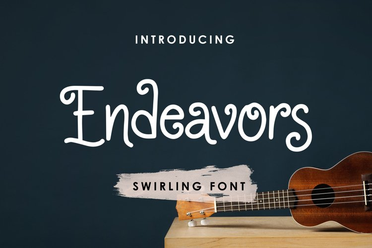 Endeavors - Swirling Font example image 1