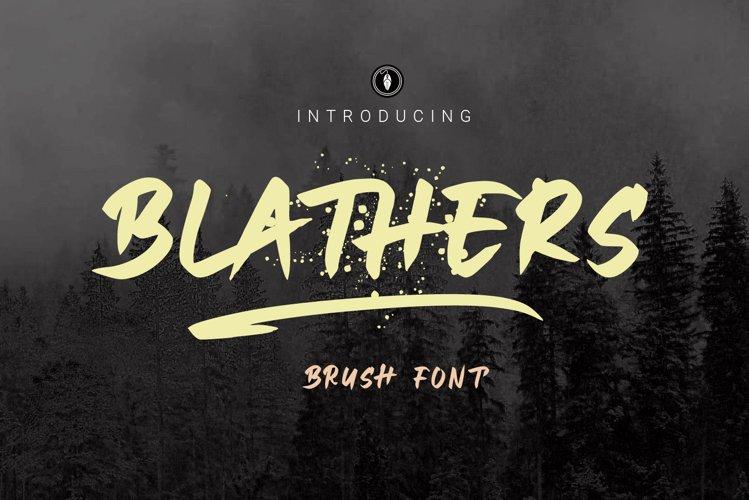 WEB FONT   Blathers Brush