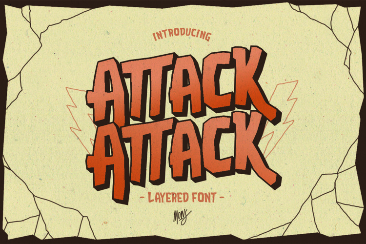 Web Font Attack Attack Typeface example image 1