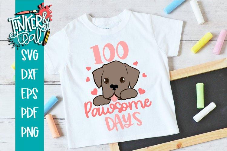 100 Pawsome Days Puppy School SVG example image 1