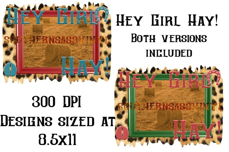 Hey Girl Hay!- Ready to Press Design Set example image 1