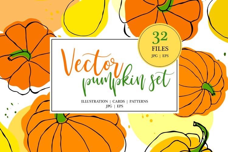 Vector Pumpkin Set