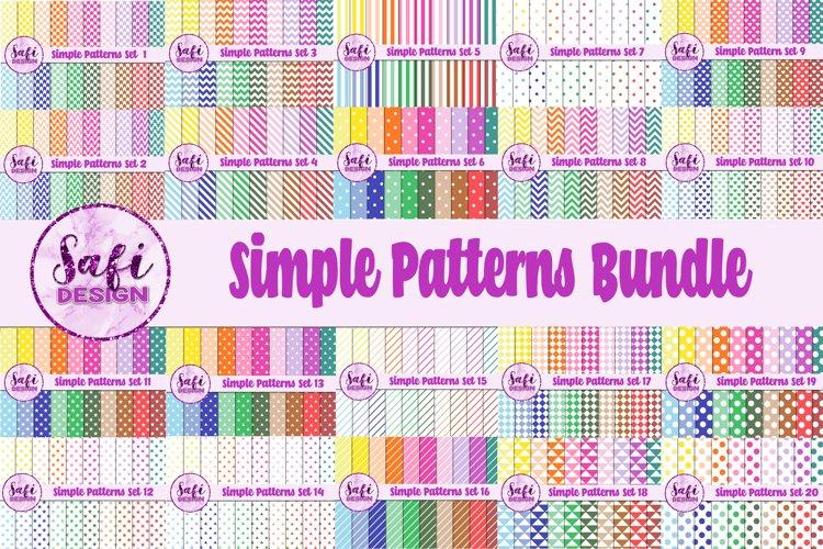 Simple Patterns Digital Paper Bundle - 400 Papers