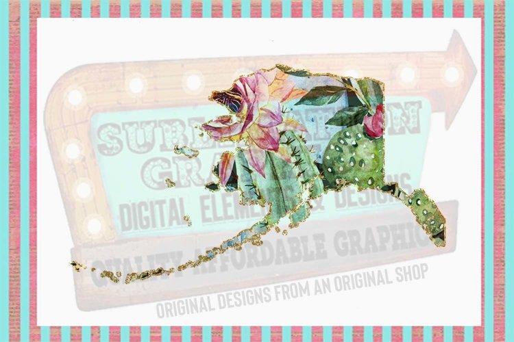 Cactus Alaska Sublimation Digital Download example image 1