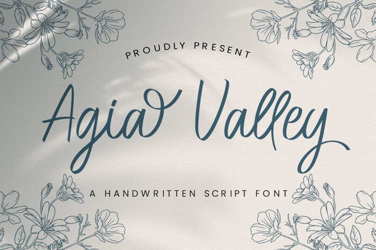 Agia Valley - Handwritten Font example image 1