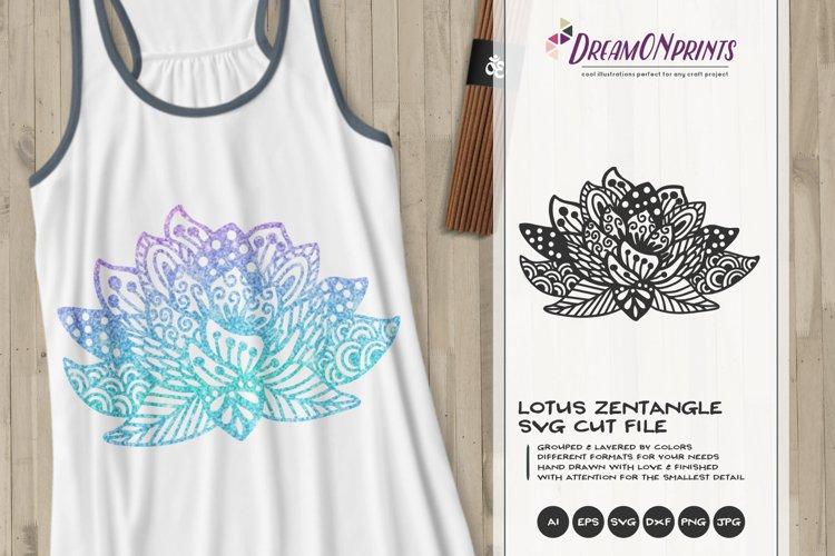 Lotus Zentangle SVG Cut File - Free Design of The Week Font