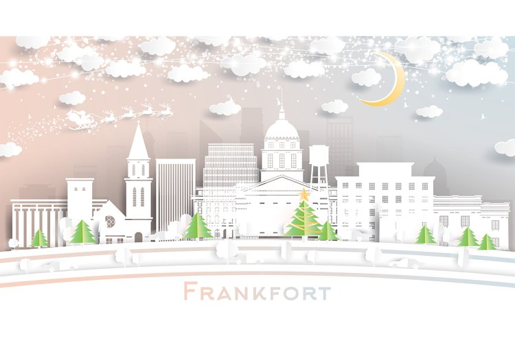 Frankfort Kentucky USA City Skyline example image 1