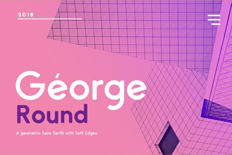 George Round 8 Fonts Round Edge Geometric Typeface