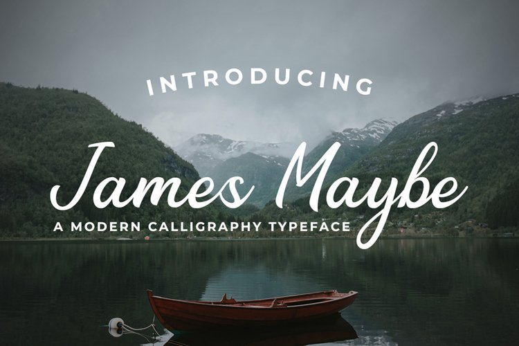 Web Font James Maybe example image 1