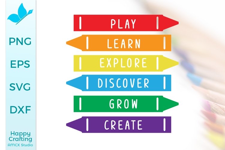 School Crayons - Power Words for Classrooms