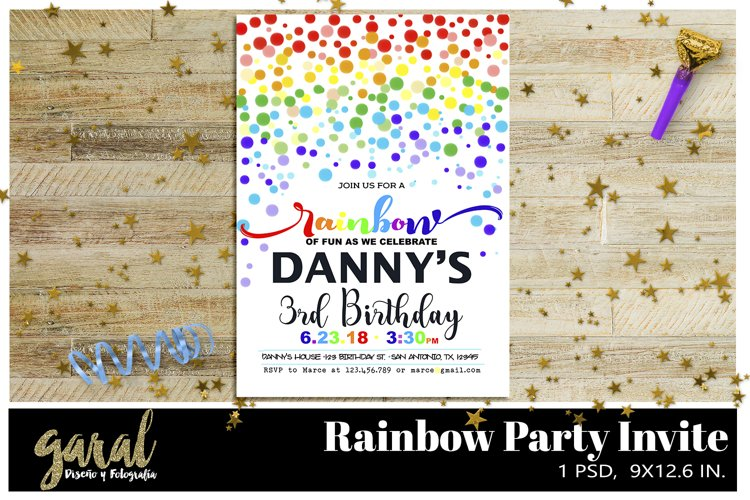 Rainbow Party invitation example image 1