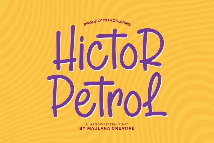 Hictor Petrol Handwritten Sans Serif Font example image 1
