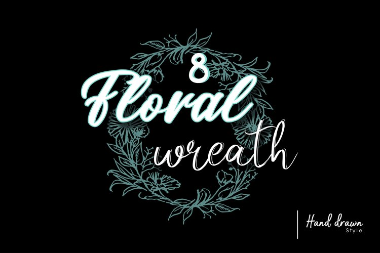 8 Floral wreath example image 1