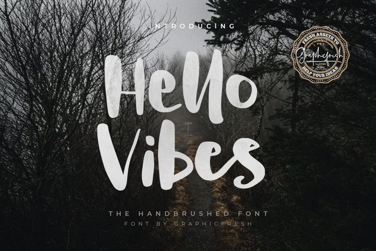 Hello Vibes - The Handbrushed Font example image 1