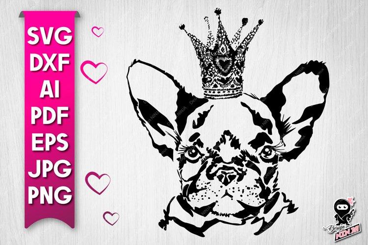 Cute Dog Portrait silhouette SVG cut file example image 1