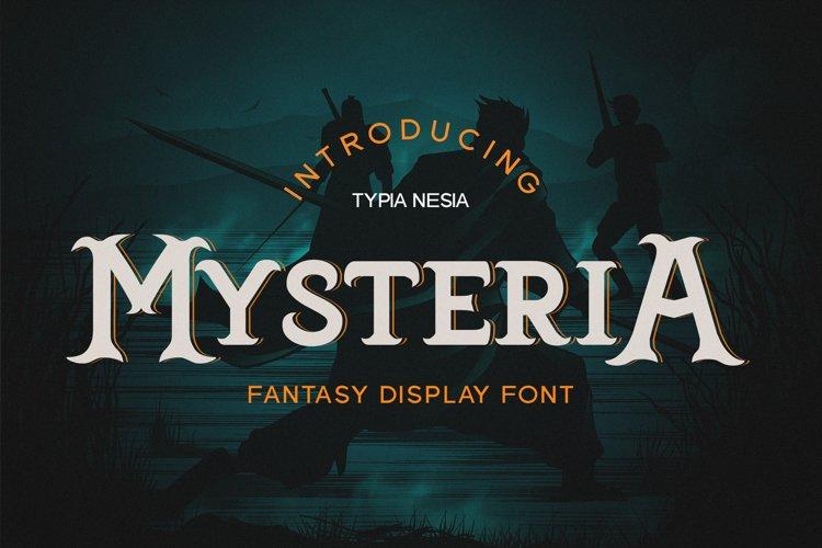 Mysteria - Fantasy Font example image 1
